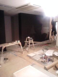 黒板壁始まる